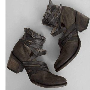 FREEBIRD by Steven GRIND Strappy Distressed Boot 7